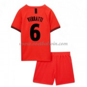 Paris Saint Germain PSG Voetbaltenue Kind 2019-20 Marco Verratti 6 Uitshirt..